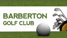 barberton golf club with ball and clubs