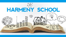 harmeny school with an open book and some drawings